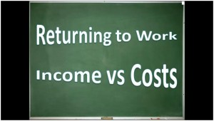 Cost of returning to work
