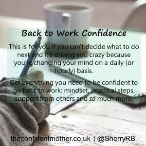 Back to work confidence after career break or redundancy