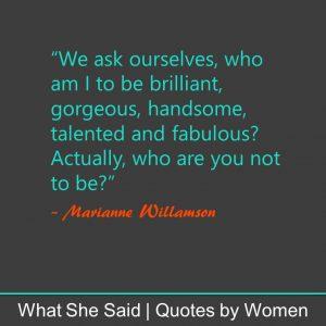 #WhatSheSaid inner confidence