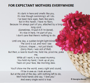 A poem for mums and expectant mums everywhere