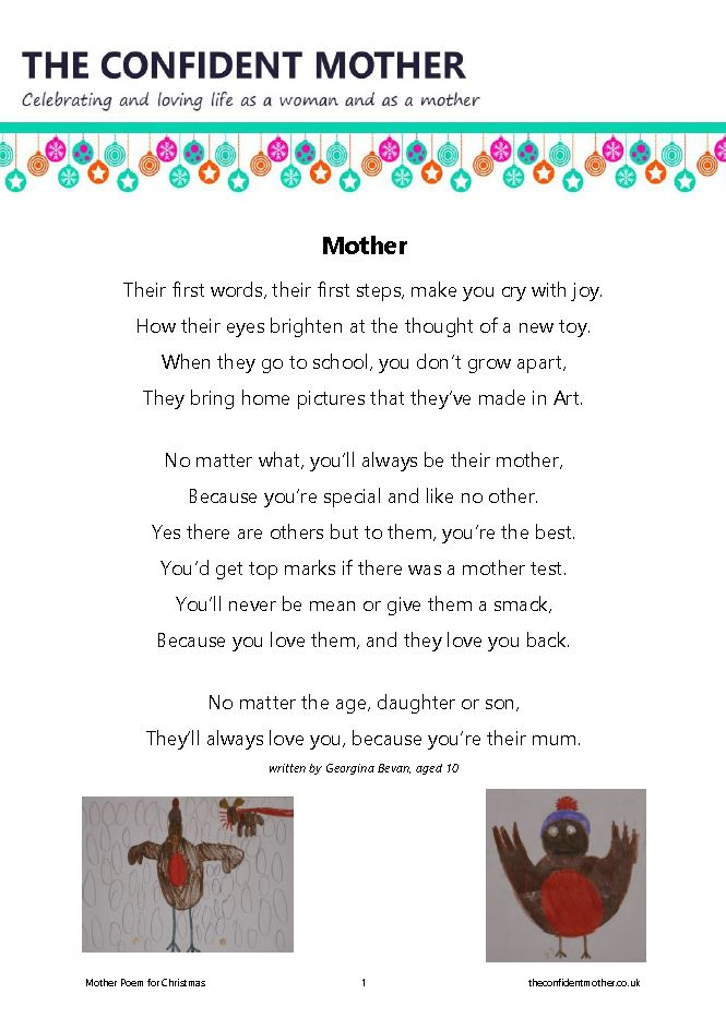 Christmas poem for mothers everywhere