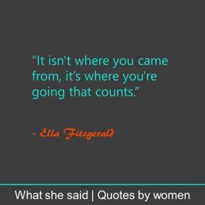 #WhatSheSaid inner confidence Ella Fitzgerald