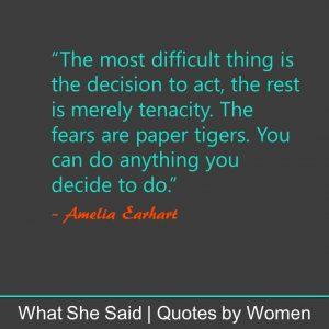 #WhatSheSaid for Inner Confidence: Amelia Earhart
