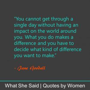 #WhatSheSaid Inner Confidence Jane Goodall