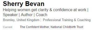 LinkedIn profile confidence